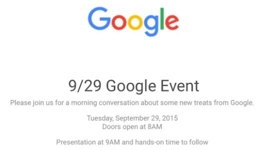 日本時間来週9月30日にGoogleが発表会を開催  新Nexus・Chromecast発表か